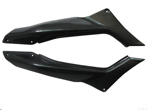 glossy Plain Weave Carbon Fiber Under Seat Covers for Ducati Multistrada 1200