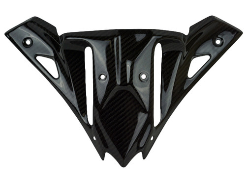 Front Fairing Base in Glossy Twill Weave shown for Kawasaki Ninja 650R 2017+.