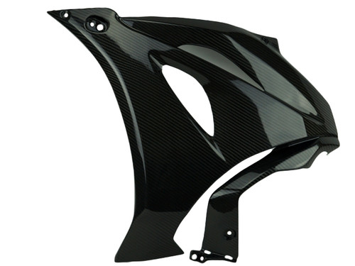 Large Side Panels in Glossy Twill Weave Carbon Fiber for Suzuki GSX-R1000 2017+