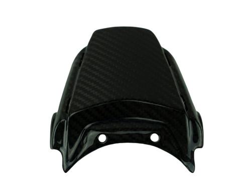 Center Tail Piece in Glossy Twill Weave Carbon Fiber for Suzuki GSX-R1000 2017+