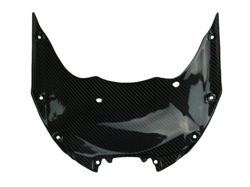 Front Fairing Base in Glossy Twill Weave Carbon Fiber for Suzuki GSX-R1000 2017+