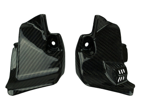 Inner Dash Panels in Glossy Twill Weave Carbon Fiber for Suzuki GSX-R1000 2017+