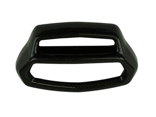 Instrument Cover in  Glossy Twill Weave shown for Ducati Diavel.