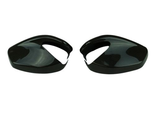 Mirror Covers in Glossy Twill Weave shown for Ducati Multistrada 950, 1260 2018+, Enduro 1200/1260.