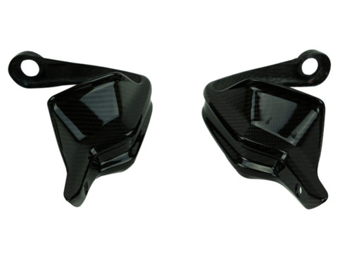 Hand Guards in Glossy Twill Weave shown for BMW S1000XR .
