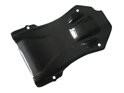 Glossy Plain Weave Carbon Fiber Seat Heat Cover for Ducati Streetfighter
