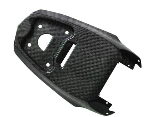 Glossy Plain Weave Carbon Fiber Underseat Cover for Ducati Streetfighter