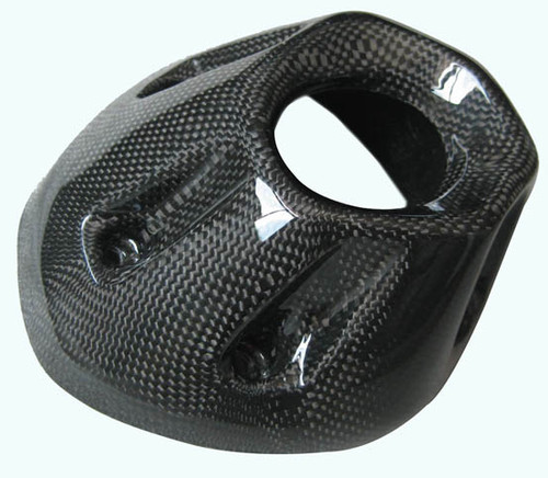 Glossy Plain Weave Carbon Fiber Heat Shield Upper for Yamaha FZ1 06 - 09