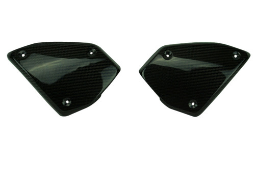 Side Covers in Glossy Twill Weave Carbon Fiber for Honda CB1000R 2018+