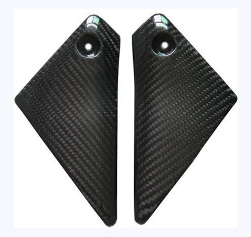 Glossy Twill Weave Carbon Fiber Upper Side Panels for Yamaha FZ1 06 - 09 (Naked Bike)