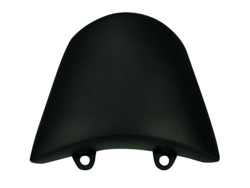 Pillion Seat Cover in Matte Plain Weave Carbon Fiber for Ducati XDiavel