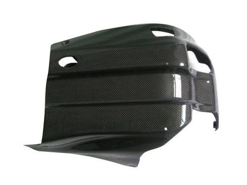 Glossy Plain Weave Carbon Fiber Belly Pan for Yamaha MT-01 2006-2010
