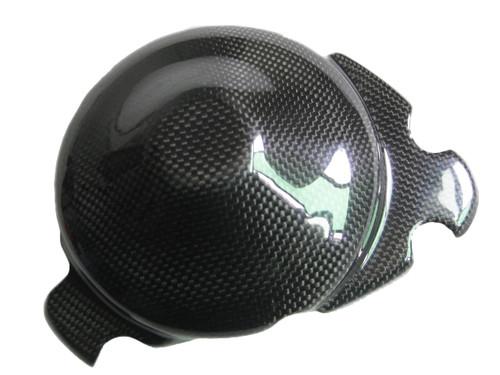 Glossy Plain Weave Carbon Fiber Alternator Cover (Kevlar inside) for Yamaha R1 09-14