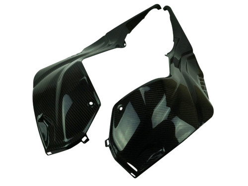 Tank Side Covers in Glossy Twill Weave Carbon Fiber for BMW S1000RR 2019+