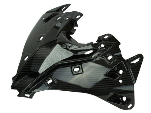 Front Fairing Frame and Intake in Glossy Twill Weave Carbon Fiber for BMW S1000RR 2019+