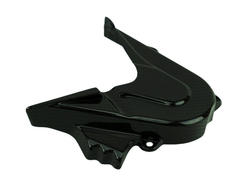Sprocket Cover in Glossy Twill Weave Carbon Fiber for KTM 790 Adventure