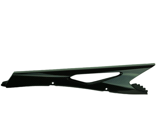 Chain Guard in Glossy Twill Weave Carbon Fiber for KTM 790 Adventure