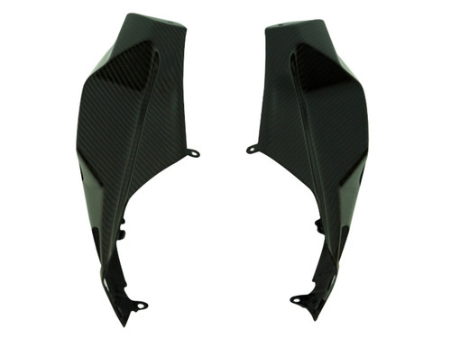 Tail Fairings in Glossy Twill Weave Carbon Fiber for Kawasaki H2 SX
