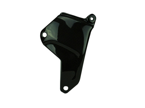 Swing Arm Protector  in Glossy Twill Weave Carbon Fiber for Kawasaki H2, H2 SX