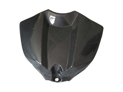 Glossy Plain Weave Carbon Fiber Tank Cover for Yamaha R1 09-14