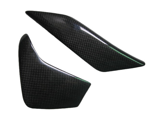 Glossy Plain Weave Carbon Fiber Swing Arm Covers for Yamaha R6 2006+
