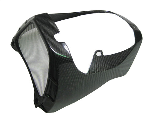 Belly Pan with Oil Cooler Surround for Aprilia Tuono V4 11+ in Glossy Plain Weave Carbon Fiber