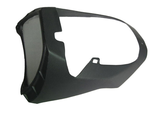 Belly Pan with Oil Cooler Surround for Aprilia Tuono V4 11+ in Matte Plain Weave Carbon Fiber