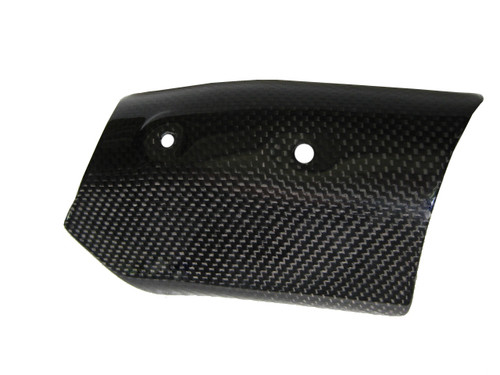 Heat Shield(heat Foil inside) for Ducati 1198,1098, 848 in Glossy Plain Weave Carbon Fiber