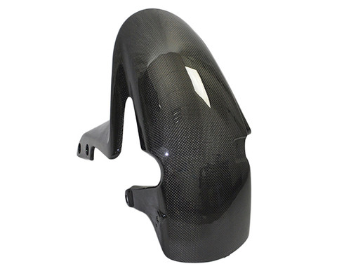 Front Fender for Honda CBR 600RR 07-12 in Glossy Plain Weave Carbon Fiber