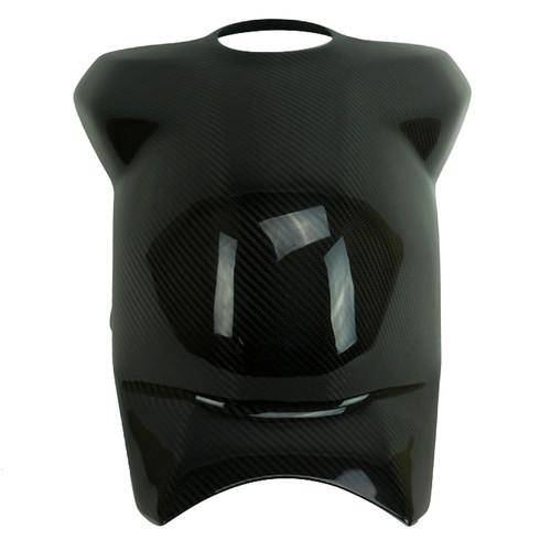 Full Tank Cover in Glossy Plain Weave 100% Carbon Fiber for Ducati Panigale V4