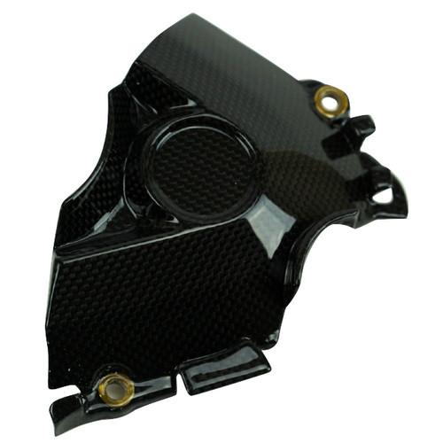 Sprocket Cover in Glossy Plain Weave 100% Carbon Fiber for Ducati Multistrada 1200 Enduro Pro 2017+