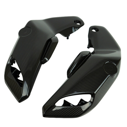 Air Intake Covers in Glossy Twill Weave 100% Carbon Fiber for Yamaha MT-07 2018+