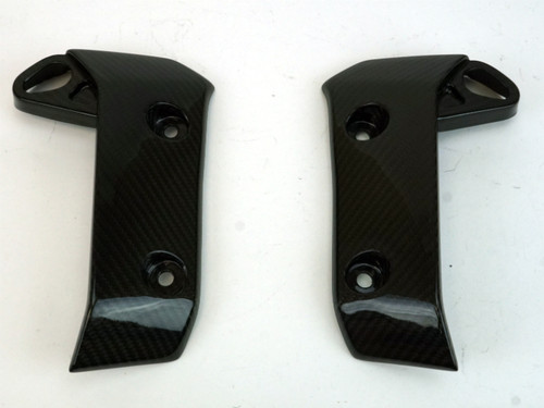Radiator Covers in Glossy Twill Weave Carbon Fiber for Yamaha MT-07 2018+