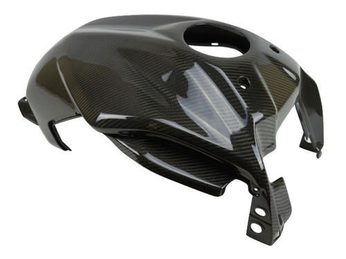 Full Tank Cover in Glossy Twill Weave 100% Carbon Fiber for Yamaha MT-07 2018+