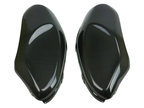 Tank Side Covers in Glossy Twill Weave 100% Carbon Fiber for Yamaha XSR900