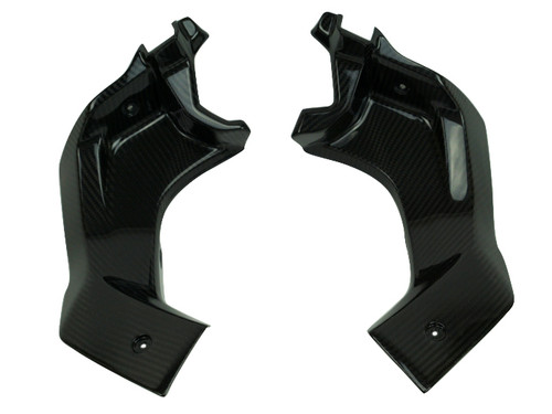 Inner Side Panels in Glossy Twill Weave Carbon Fiber for Yamaha R3, R25