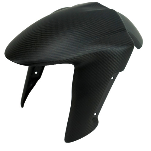Front Fender (Version 2) in Matte Twill Weave Carbon Fiber for Kawasaki Z1000 2014+