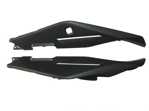 Rear Under Seat Fairings for Aprilia Tuono V4 11+ in Matte Plain Weave Carbon Fiber