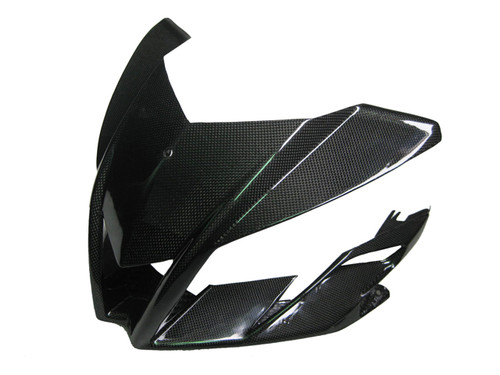 Upper Fairing for Aprilia Tuono V4 11+ in Glossy Plain Weave Carbon Fiber