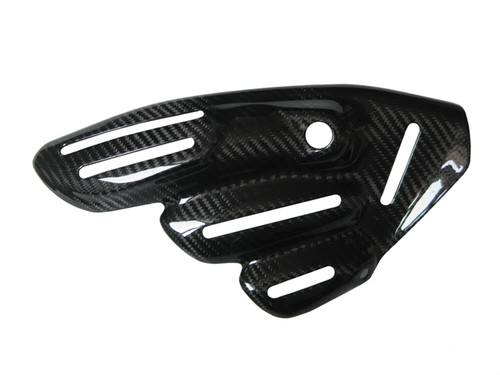 Exhaust Cover ( Style 2) for MV Agusta, F3 & Brutale 675/800, Dragster & Rivale 800 in Glossy Twill Weave Carbon Fiber