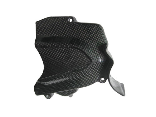 Glossy Plain Weave Carbon Fiber Sprocket Cover for MV Agusta F3 & Brutale 675/800, Dragster &  Rivale 800
