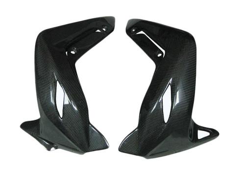 Glossy Plain Weave Carbon Fiber Radiator Cover for MV Agusta Brutale 920, 990R, 1090RR 2012+