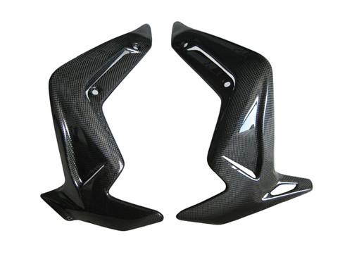 Glossy Plain Weave Carbon Fiber Radiator Covers for MV Agusta Brutale 990R, 1090RR 2010-2011
