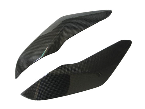 Glossy Plain Weave Carbon Fiber Under Tank Covers for MV Agusta F3 675/800