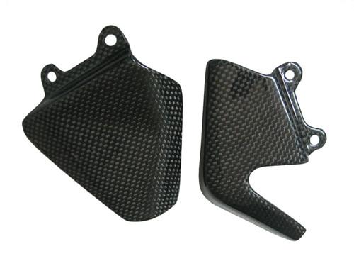 Heel Plates for MV Agusta F4 1999-2009 in Glossy Plain Weave Carbon Fiber