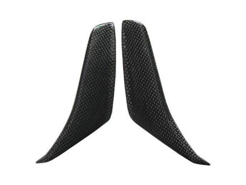 Glossy Plain Weave Carbon Fiber Mirror Air Scoops for MV Agusta F4 2010+