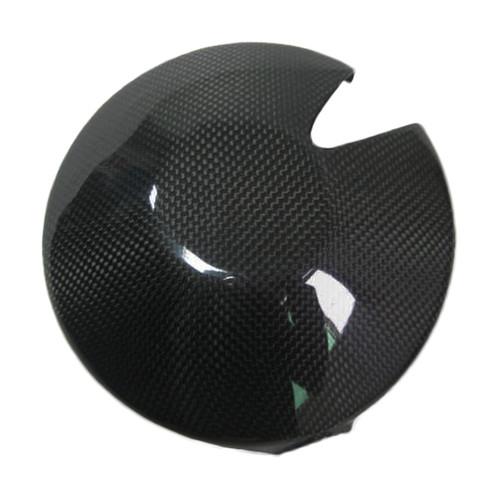 Glossy Plain Weave Carbon Fiber Clutch Cover (Add Kevlarside) for Triumph Daytona 675 06-12, Street Triple 07-12