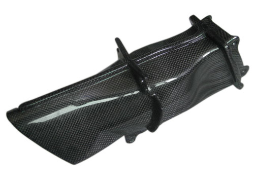 Duct Intake in Glossy Plain Weave Carbon Fiber for Triumph Daytona 675 06-12