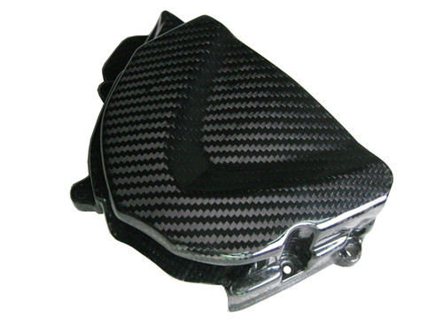 Glossy Twill Weave Carbon Fiber Sprocket Cover for Triumph Daytona 675 06+, Street Triple 06+