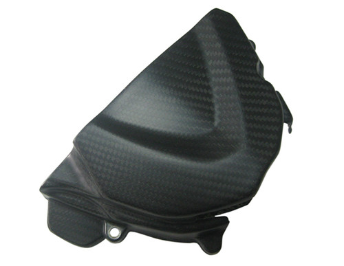 Matte Twill Weave Carbon Fiber Sprocket Cover for Triumph Daytona 675 06+, Street Triple 06+